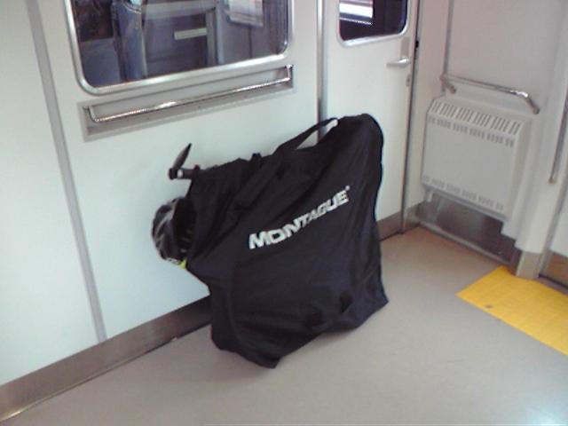 モブログから、、 四ツ谷駅から電車&輪行